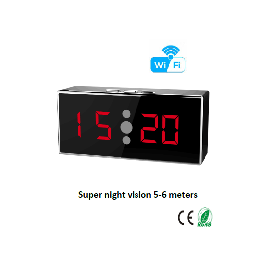 HD 1080P IR Desk Clock Wi-Fi Camera (Wi-Fi Version)